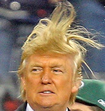 Trump un día de viento