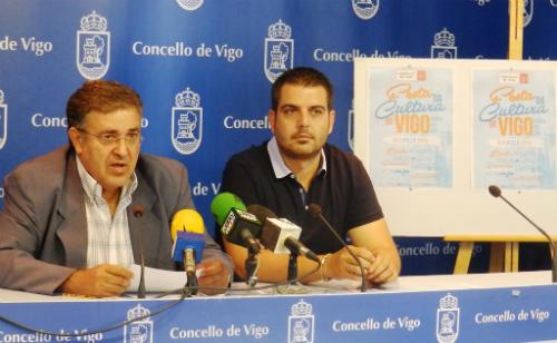 O concelleiro Javier Pardo, na presentación, este mércores