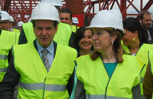 Abel Caballero y la ministra de Fomento, Ana Pastor, en una visita de la ministra a Vigo/Tresyuno Comunicación