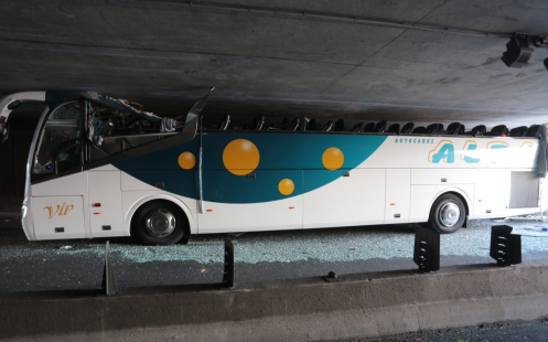Bus accidentado. Foto: La Voix du Nord