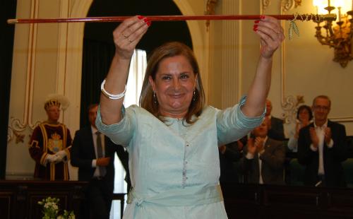 Carmela Silva, tras ser elegida presidenta de la Diputación/Tresyuno Comunicación