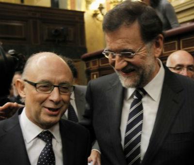 El ministro de Hacienda y el presidente del Gobierno
