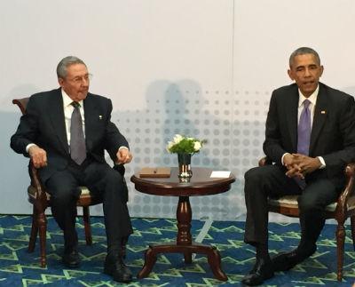 Castro y Obama, hace unas semanas en Panamá