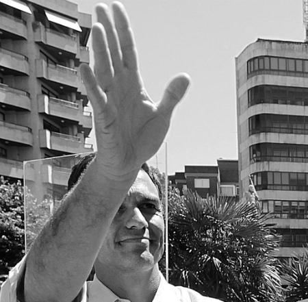 Pedro Sánchez, candidato socialista a la Presidencia del Gobierno, durante un mitin en Vigo