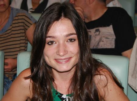 Raquel, o pasado sábado no mitin de Pablo Iglesias no auditorio Mar de Vigo/Tresyuno Comunicación