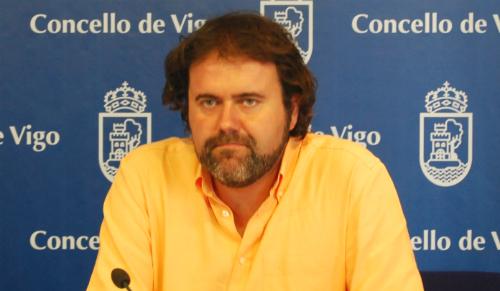 Rubén Pérez, voceiro do grupo municipal de A Marea de Vigo/Tresyuno Comunicación