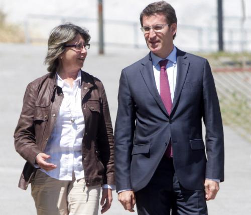 La conselleira de Medio Rural, Ana Rosa Quintana, y su jefe directo, el presidente del Gobierno de Galicia