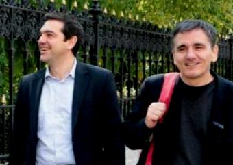 El primer ministro Tsipras y el ministro de Finanzas, Euclides Tskalotos