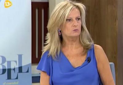 La tertuliana Isabel San Sebastián, en el programa de televisión en el que ha opinado sobre el secuestro de tres periodistas españoles en Siria