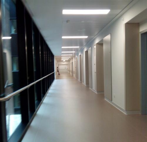 Interior del hospital Álvaro Cunqueiro
