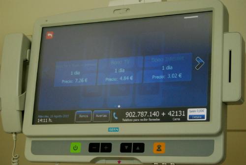 Precios de los bonos de Radio Televisión e Internet en el nuevo hospital