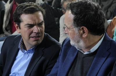 Tsipras y su principal opositor su ex ministro de Industria Lafazanis