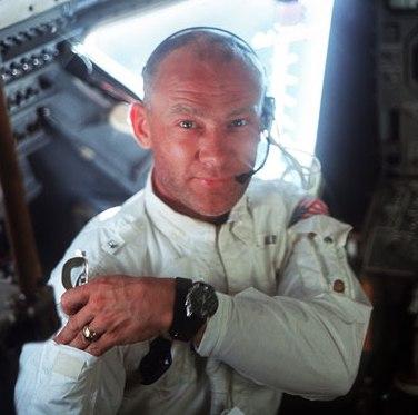 Buzz Aldrin, cuando viajó en el Apollo XI