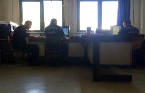 Comisaría de Presevo, en Serbia, donde estuvieron detenidos Carnotto y López