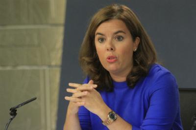 La vicepresidenta Saínz de Santamaría