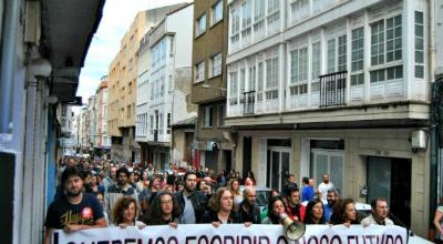 Manifestación dos nosos compañeiros de Diario de Ferrol (foto : CIG)