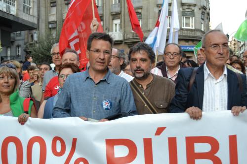 O alcalde de As Neves, a esquerda, cunto co voceiro nacional do BNG, Xabier Vence