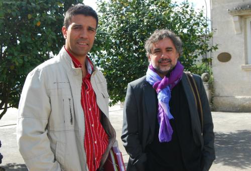 O primeiro tenente de alcalde e o alcalde de As Neves