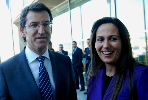 El presidente Feijóo y la hasta ahora delegada de su gobierno en Vigo, el día de la toma de posesión de María José Bravo Bosch/Tresyuno Comunicación