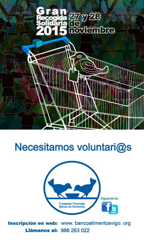 (MEDIOS) cartel captación voluntarios Gran Recogida Solidaria 2015