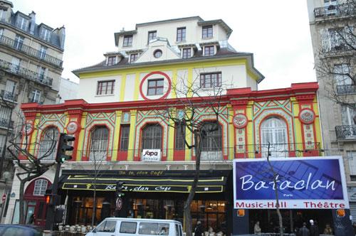 La sala Bataclan, donde fueron asesinadas 89 personas