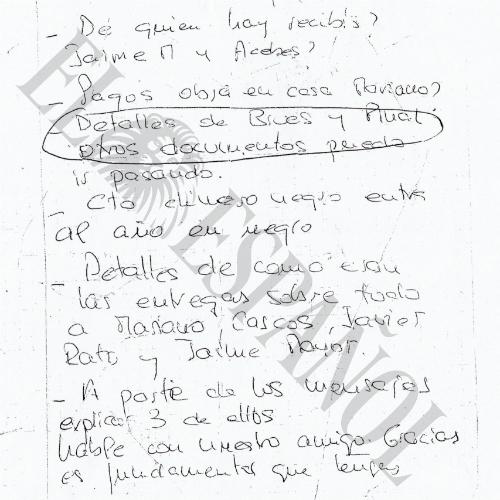 Documento publicado este lunes por El Español