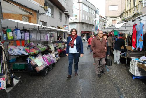 """La alcaldesa de Porriño siempre se ha negado a cerrar  la feria de su concello porque, asegura, """"no vamos a ceder a los extorsionadores"""""""
