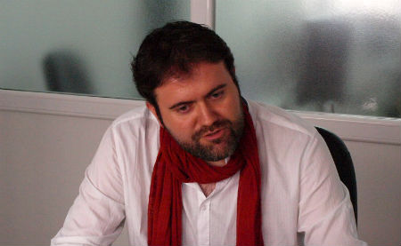 Rubén Pérez, voceiro de a Marea de Vigo (ARQUIVO)/Tresyuno Comunicación