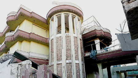 La embajada española tras el ataque/ Foto: TV Afganistán