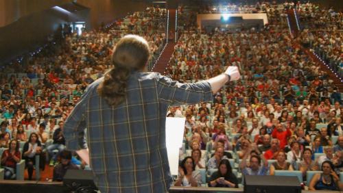 Pablo Iglesias en Vigo en julio pasado/Tresyuno Comunicación