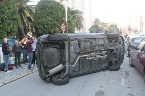 El coche accidentado