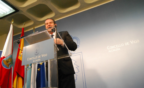 Abel Caballero en rueda de prensa/Foto:vigoalminuto.com