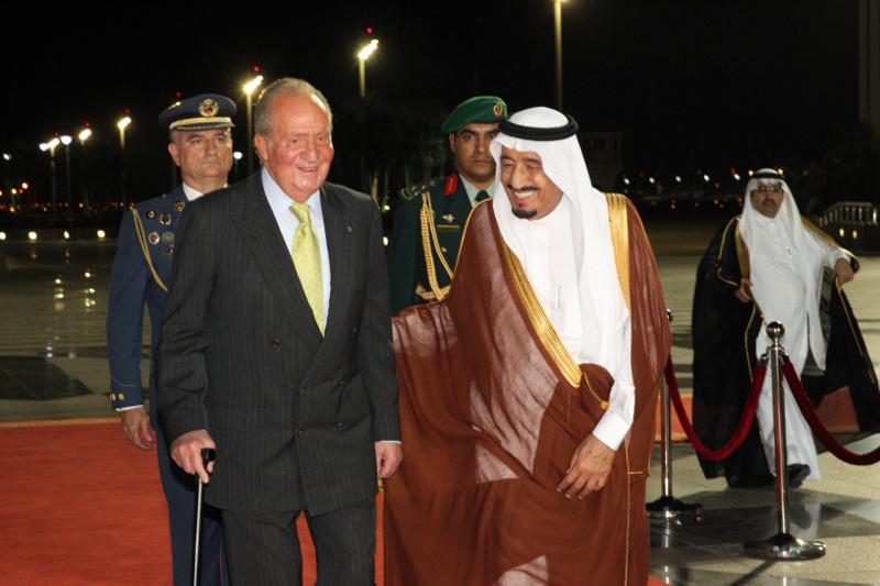 El rey Saudí, Salmán bin Abdulaziz.y el el rey Juan Carlos