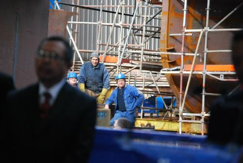 Astilleros FReire en Vigo, construcción buque escuela para la Armada Indonesia