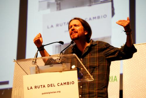 Pablo Iglesias durante un acto en Vigo/ Foto:vigoalminuto.com
