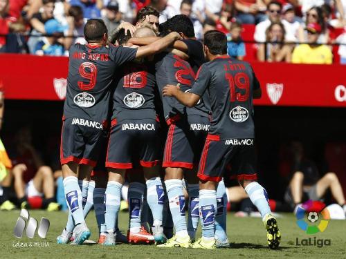 Partido de Liga  Sevilla Celta que ganaron los vigueses en el Sánchez Pizjuan 1-2