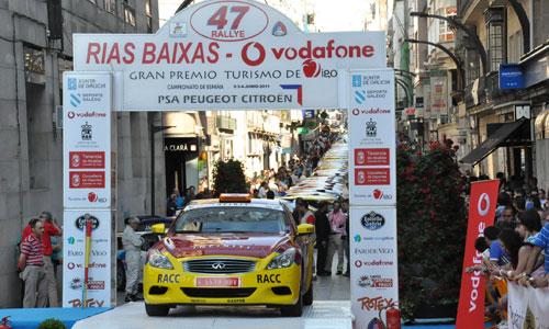 Salida do Rallye Rías Baixas dende Vigo (Arquivo)/Foto:vigoalminuto.com