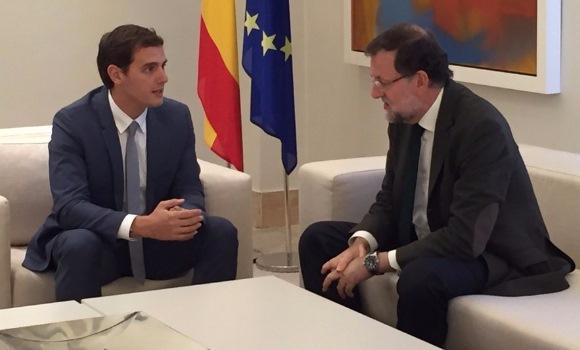 Rivera y Rajoy en La Moncloa