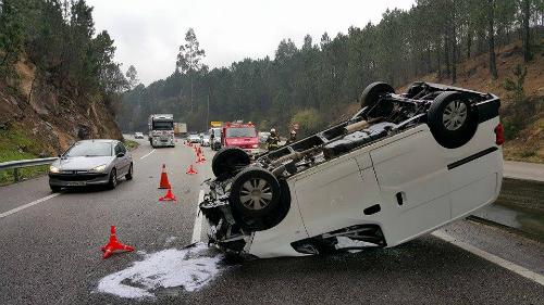 Accidente A-55 1