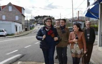 Las alcaldesas de Porriño, Eva García de la Torre, y de Mos, NIdia Arévalo, este jueves