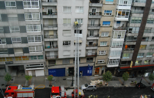 El edificio afectado/Foto:vigoalminuto.com