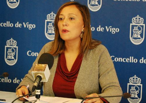 Elena Muñoz, portavoz del PP en el Concello de Vigo/Foto:vigoalminuto.com