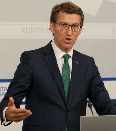 O presidente do Goberno de Galicia, Alberto Núñez Feijóo