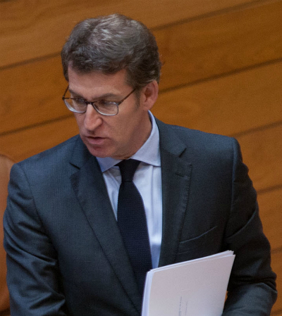 O presidente Feijóo no Parlamento de Galicia