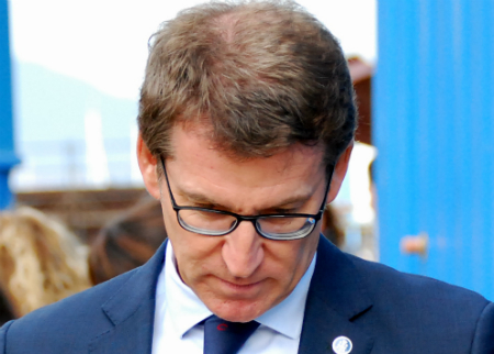 O presidente do Goberno de Galicia nun acto en Vigo/Foto:vigoalminuto.com