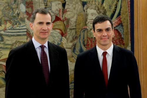 Felipe de Borbón y Pedro Sánchez