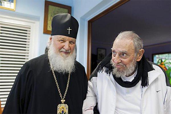 Fidel Castro con Su Santidad Kiril I/Foto:juventudrebelde.cu