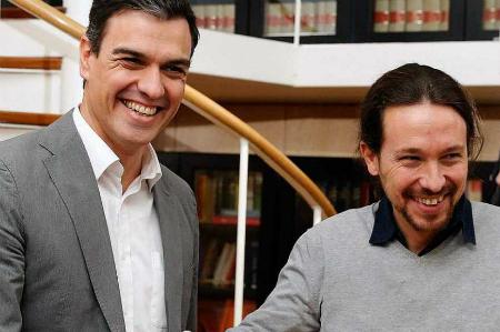 Pedro Sánchez y Pablo Iglesias este viernes