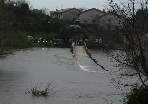 Inundación en Ponteareas