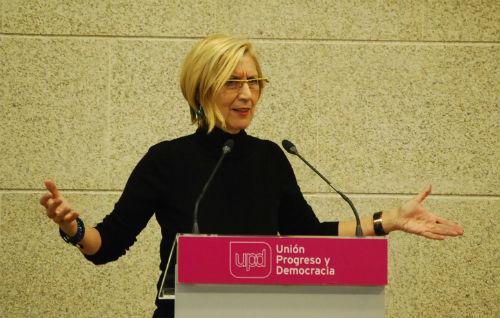 Rosa Díez durante un acto en Vigo/Foto:vigoalminuto.com